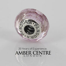 GENUINE PANDORA  SILVER S925 ALE-PINK SHIMMER MURANO CHARM-791650 RRP£45!!!