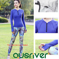 Brand New Long Sleeves Yoga Running Gym Sports Coat Workout Tops Quick Dry
