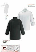 GIACCA CHEF CUOCO BLACK WHITE MICROTEC EGOCHEF EXTRA DRY MADE IN ITALY JACKET