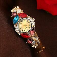 Fashion Womens Watch Cristal Pedrería Reloj De Pulsera Analogico Reloj Cuarzo
