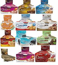Quest Nutrition Whey Protein Snack Bars Multivitamins Lean Muscle Mass 12 x 60g
