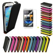 HTC ONE MINI Schutz Hülle Flip Case Handy Tasche Wallet Flip Cover Etui Folie M4