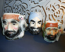 VINTAGE JOB LOT OF 3 TOBY CHARACTER JUGS LARGE JUGS COLLECTORS ITEMS PIRATES