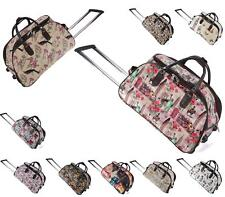 Womens Fashion Luggage Various Prints Holdall Trolley Bag Weekend Travel Handbag
