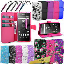 For Sony Xperia Z5 E6683 -Wallet Flip Leather Book Case Cover +Screen Protector