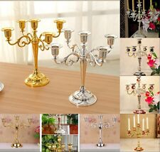 Gold Candle Holder Plated Romantic 5/3-Arm For Wedding Party Candelabra  Dinner