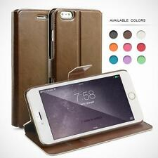FAUX PU LEATHER FLIP CASE COVER FOR IPHONE PHONE MODELS