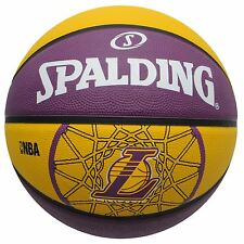 Spalding LA Lakers NBA Team Basketball Yellow/Purple Hoops Ball