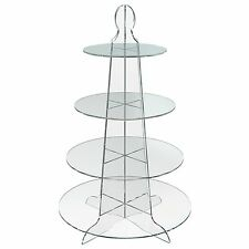 4 Tier Round Cup Cake Stand Wedding Birthday Party Acrylic Cupcake Display