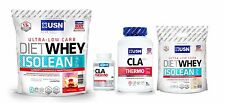 Diet Whey Protein Isolean for Lean Muscle + CLA Thermo Fat Burner Pills USN