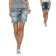 Only Damen Destroyed Jeans-Shorts Bermudas Boyfriend Kurze Hose Denim Vintage