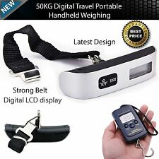 Portable Travel Electronic Digital LCD Luggage Weight Hanging Scale KG LB OZ UK