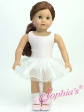 White Tutu 5 Piece Ballet Set for American Girl & Other 18