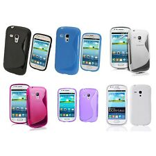 SAMSUNG GALAXY S3 MINI i8190 S-LINE SILICONE GEL COVER CASE AND SCREEN PROTECTOR