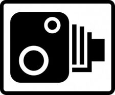 Speed Camera Road Traffic Warning Sign Self Adhesive Sticker