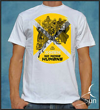 T-SHIRT X-MEN FUMETTI MARVEL T-SHIRT COVER XAVIER WOLVERINE SIL CCx002