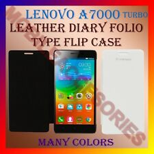 ACM-LEATHER DIARY FOLIO FLIP CASE COVER for LENOVO A7000 TURBO MOBILE FRONT BACK