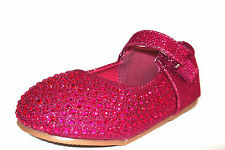 Savannah Collection toddler / infant girls casual shoe Pink sparkle /jewel H2285