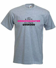 PROUD GRANDDAUGHTER AWESOME GRANDAD T-SHIRT FUNNY TSHIRT T SHIRT PRESENT S-XXL