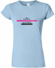 PROUD GRANDDAUGHTER AWESOME GRANDAD LADIES FITTED T-SHIRT FUNNY TSHIRT S-XXL