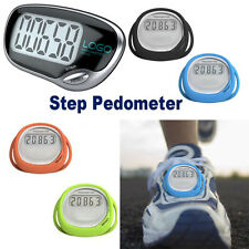 LCD Digital Step Pedometer Walking Calorie Counter Distance Fitness Measurement