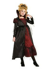 Kids Gothic Vampiress Fancy Dress Costume