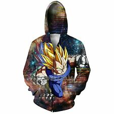 DRAGON BALL Z ANIME SUPER SAIYAN VEGETA HD 3D HOODY HOODIE SWEATSHIRT