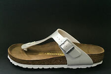 Birkenstock Gizeh Sandals - Magic Galaxy White - Made In Germany - Narrow