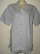 ladies grey short sleeve blouse top Office casual Size 8 10 12 14 16 18 20