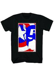CAPTAIN AMERICA CLEAN SHIELD T-SHIRT, OFFICIALLY LICENSED MARVEL PRODUCT