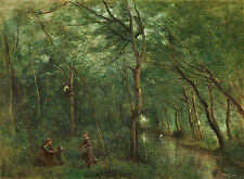 "Camille Corot : ""The Eel Gatherers"" (1860/1865) — Giclee Fine Art Print"