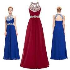 Sexy Bead Long Evening Gown Ball Formal Wedding Party Prom Bridesmaid Maxi Dress