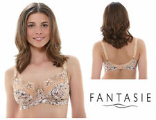 Fantasie Kirsty Side Underwired Support Bra 9292 Non Padded Almond *New Lingerie
