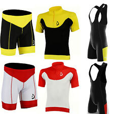 Deckra Men's Cycling Half Sleeves Jersey Top + Bib Short set Padded shorts