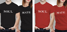 Couple T shirts- Soul Mate_Black-Red Colour Tshirt (by iberrys)