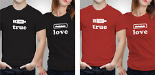 Couple T shirts- Love Charger_Black-Red Colour Tshirt (by iberrys)