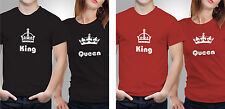 Couple T shirts- King & Queen._Black-Red Colour Tshirt (by iberrys)