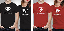 Couple T shirts- Super man _Black-Red Colour Tshirt (by iberrys)
