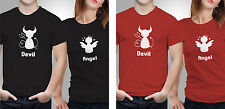 Couple T shirts- Angel & Devil _Black-Red Colour Tshirt (by iberrys)
