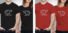 Couple T shirts- Love Him/her _Black-Red Colour Tshirt (by iberrys)