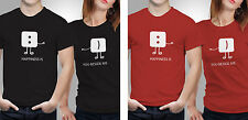 Couple T shirts- Happiness couple _Black-Red Colour Tshirt (by iberrys)
