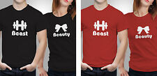 Couple T shirts- Beast-Beauty _Black-Red Colour Tshirt (by iberrys)