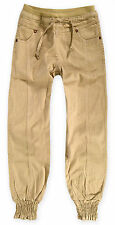 Girls New Cuffed Leg Cotton Chinos Kids Casual Trousers Summer Jeans Age 7-13 Yr