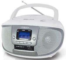 Cdku55cws irradio cd/mp3 boombox con radio am/fm e presa usb/sd