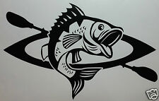 KAYAK FISHING BASS STICKER/DECAL Kayaking/Canoeing/Watersports/Sit On Top