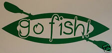 "KAYAK FISHING ""GO FISH!"" STICKER/DECAL Kayaking/Canoeing/Watersports/Sit On Top"
