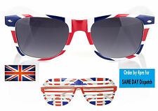 Wayfarer Sunglasses Retro Vintage 80's Geek Mens Womens Union Flag Souvenir