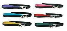"""Luxe Leather Dog Lead - 6' x 3/4"""" - 6 colors - Nylon & leather leads - comfort"""