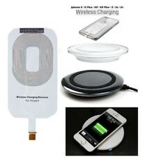 New Qi Wireless Charger Charging Pad + Receiver For Iphone 5 5S 6 6 plus 6S UK