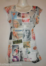 PRIMARK LADIES T SHIRT TEE SHIRT MARILYN MONROE RETRO TOP UK 10 or 12